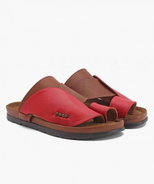 FN-6451 Shargy Leather Sandal red
